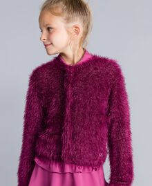 "Cardigan mit Schlingenstich ""Sweet Grape""-Violett Kind GA83D3-0S"