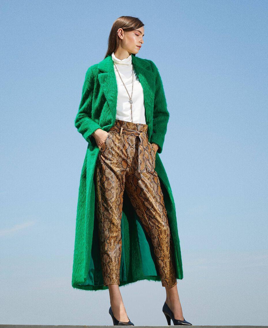 Manteau long en drap brossé Python Femme 202TP2601-01