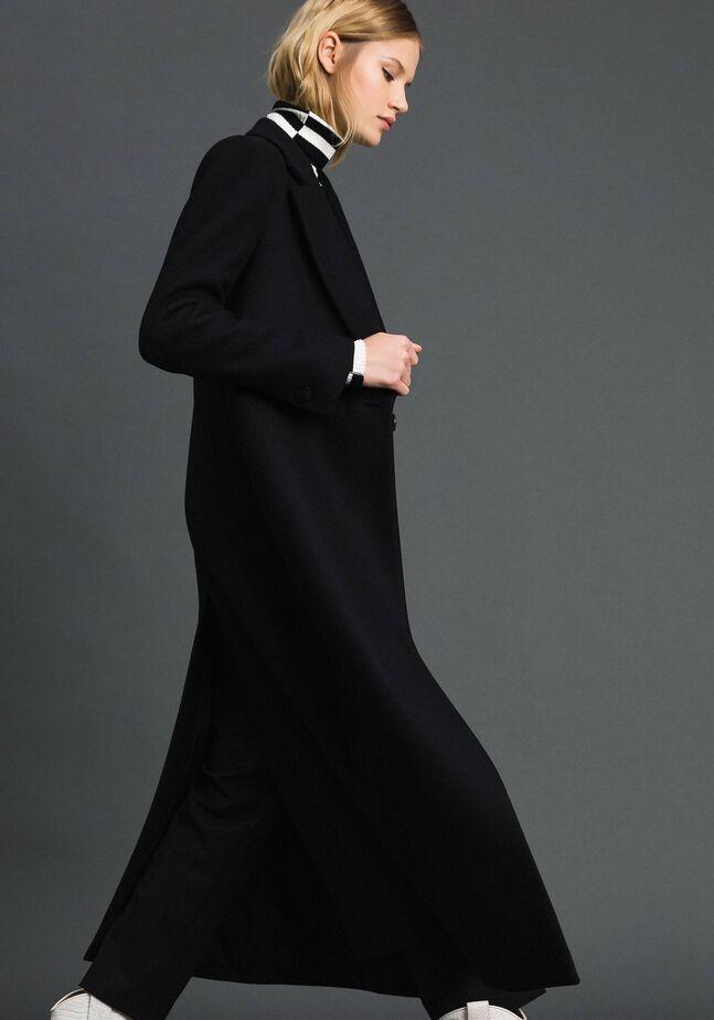 Langer Mantel aus Tuch