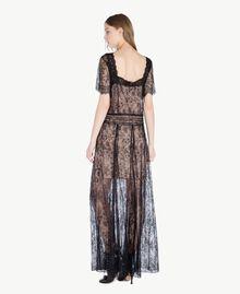 Langes Kleid aus Spitze Schwarz Frau PS821F-03