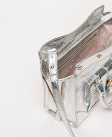 Borsa Rebel in pelle con tasca Grigio Titanio Donna 201TA723Z-05