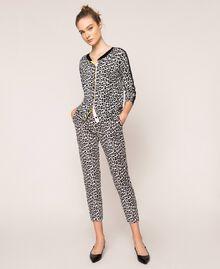 Animal print jumper-cardigan Lily Animal Print / Black Woman 201MP306A-01