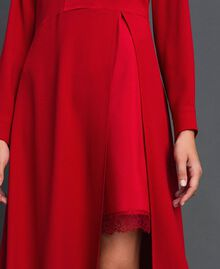 Midi dress with slip Venetian Red Woman 192TT229C-05