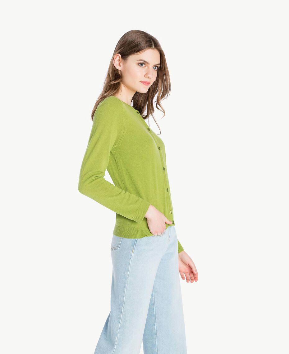 Cashmere mandarin collar jumper Green Pistachio Woman PS83EH-02