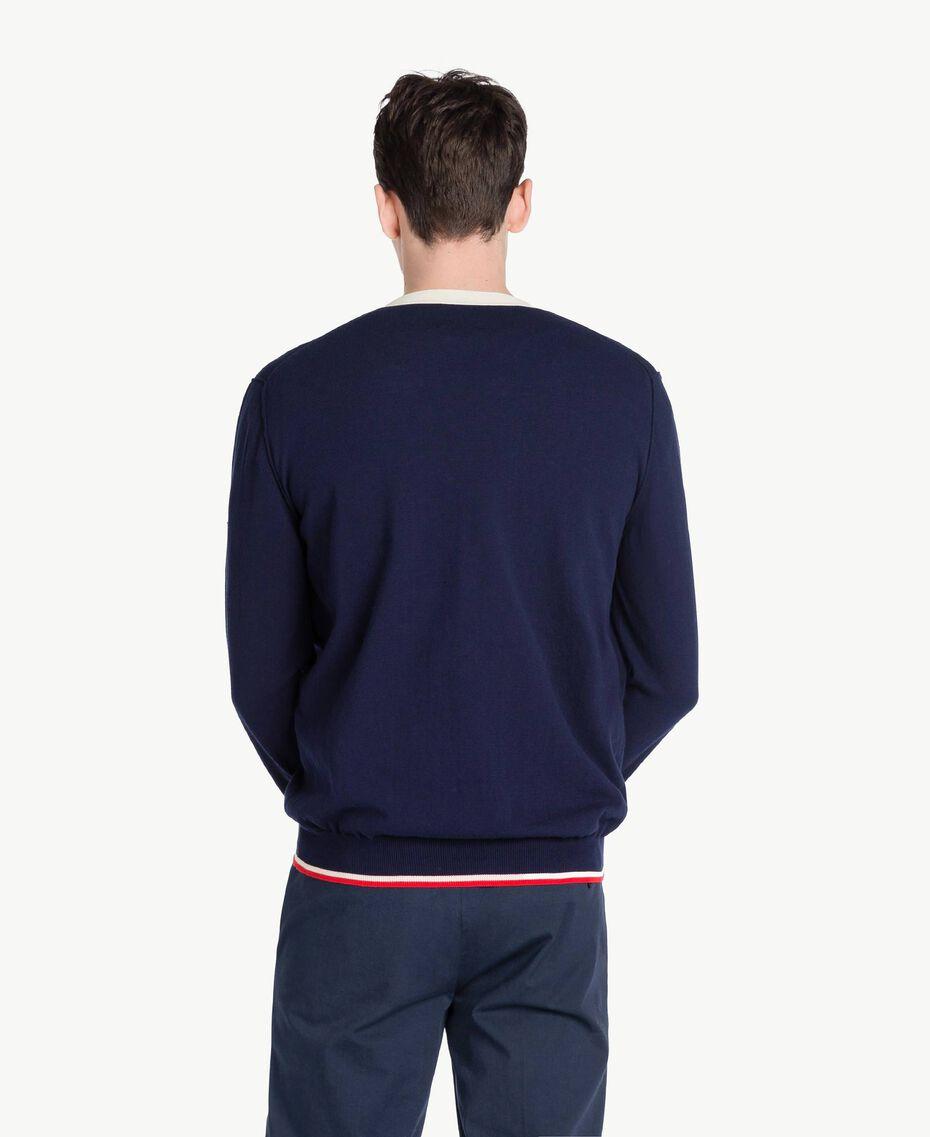 Cotton cardigan Blackout Blue Man US831Q-03