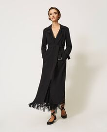 Floaty trench coat with belt Black Woman 202TP204A-01
