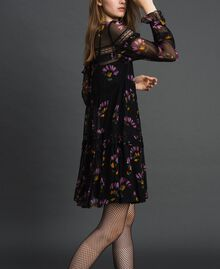 Camouflage and floral print dress Black Flowers Print Woman 192TT2122-02