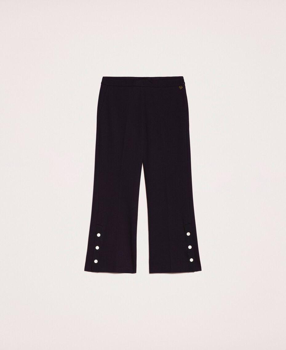 Pantalon avec volants et perles Ivoire Femme 201TP2103-0S