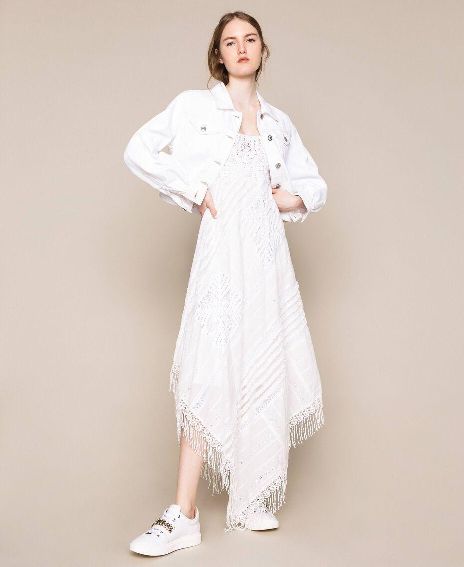 """Blouson en jean blanc Blanc """"Ice"""" Femme 201MT2230-02"""