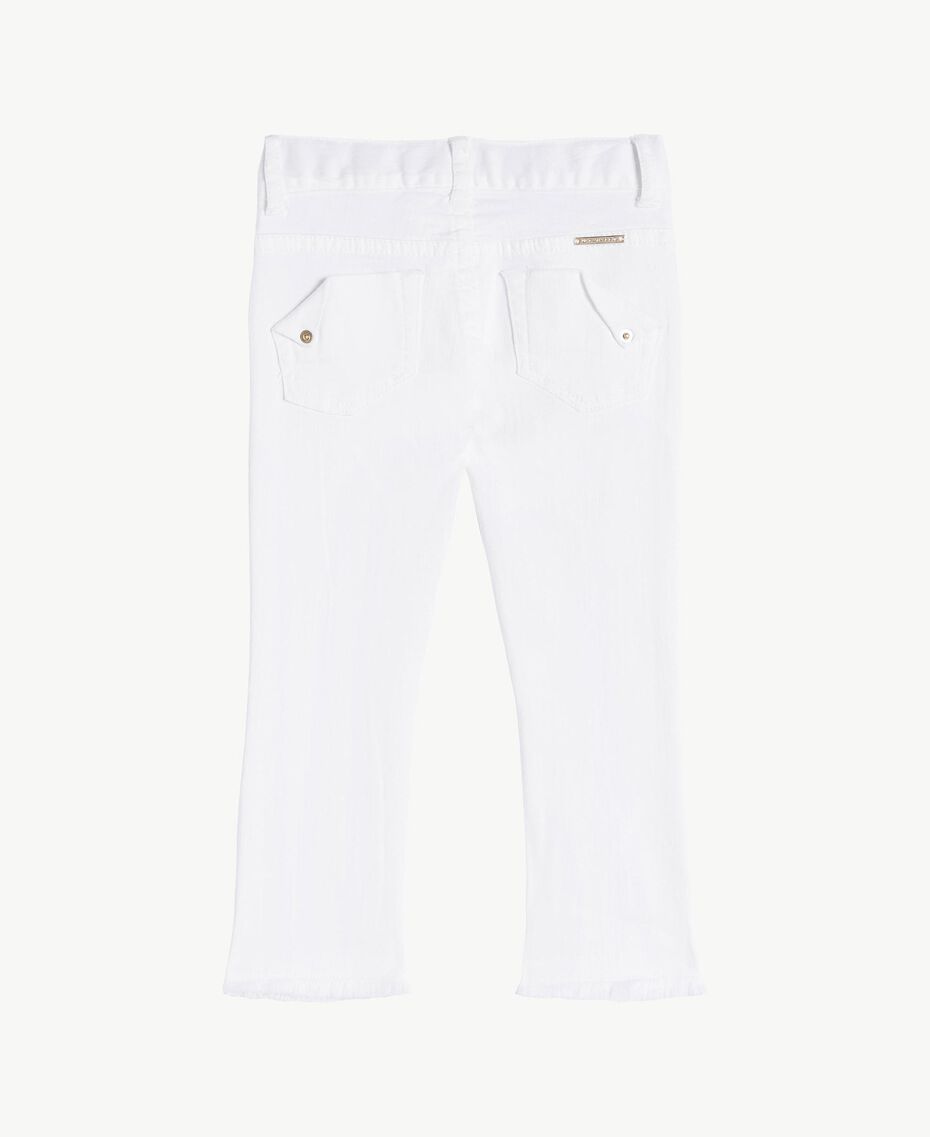 "Skinny trousers ""Papers"" White Child FS82CA-02"