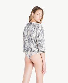 Cardigan imprimé Imprimé Grande Fleur Blanc Optique Femme LS8DEE-04