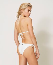 Bikinitanga mit Schleifen Elfenbein Frau 211LMM888-03