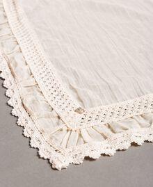 """Cotton muslin scarf """"Milkway"""" Beige Woman 191LB4ZAA-02"""