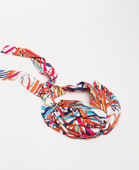 Printed scarf headband