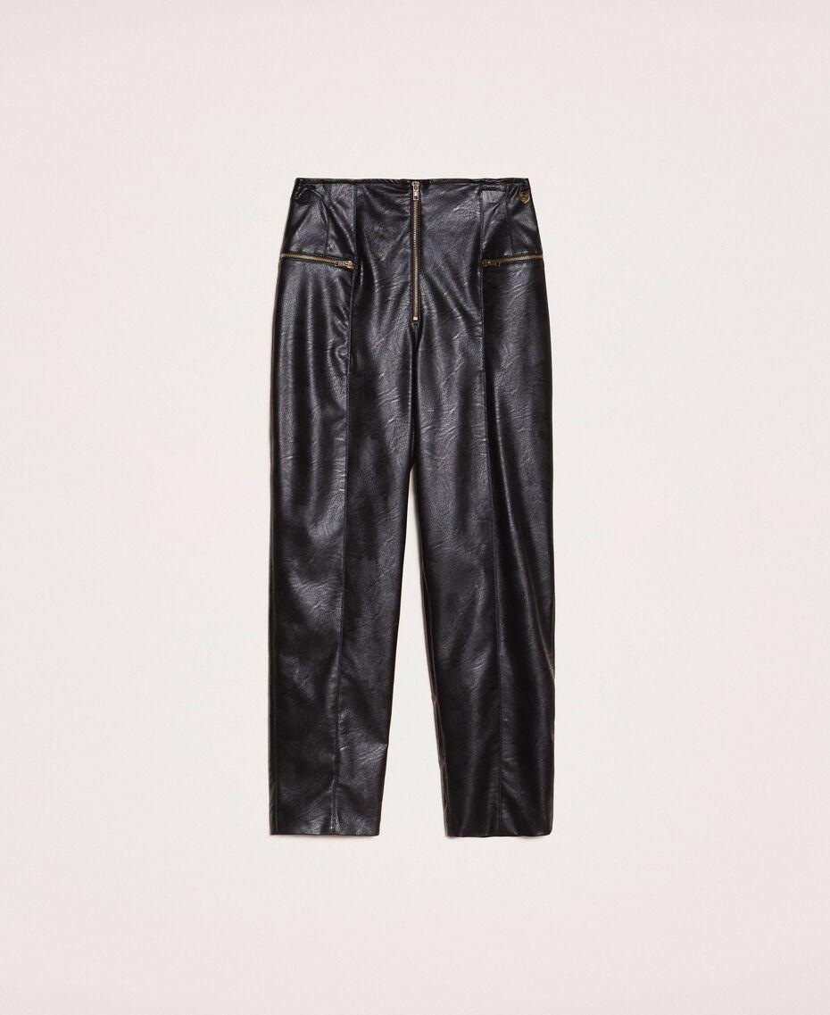 Faux leather trousers Black Woman 201TP241C-0S