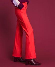 Pantalon en laine technique Fuchsia Rose Vegas Femme 192TT2450-01