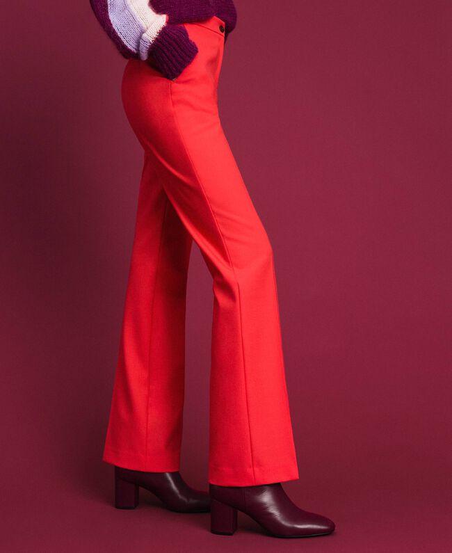 Pantaloni in lana tecnica Fucsia Pink Vegas Donna 192TT2450-01