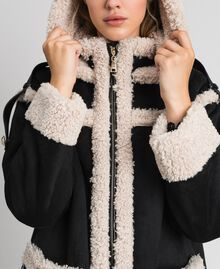 "Faux shearling reversible coat Black / ""Vanilla"" White Woman 192MT2021-04"