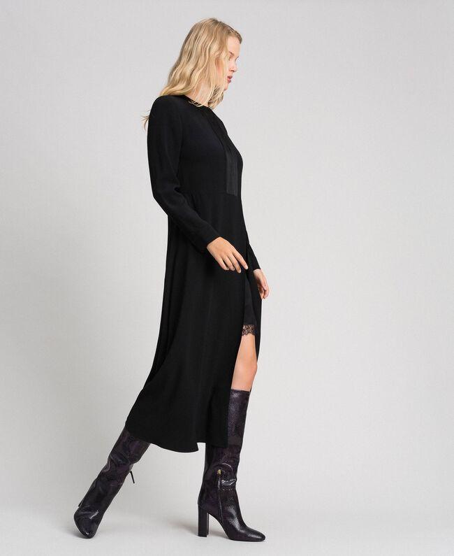 Midi dress with slip Black Woman 192TT229C-01