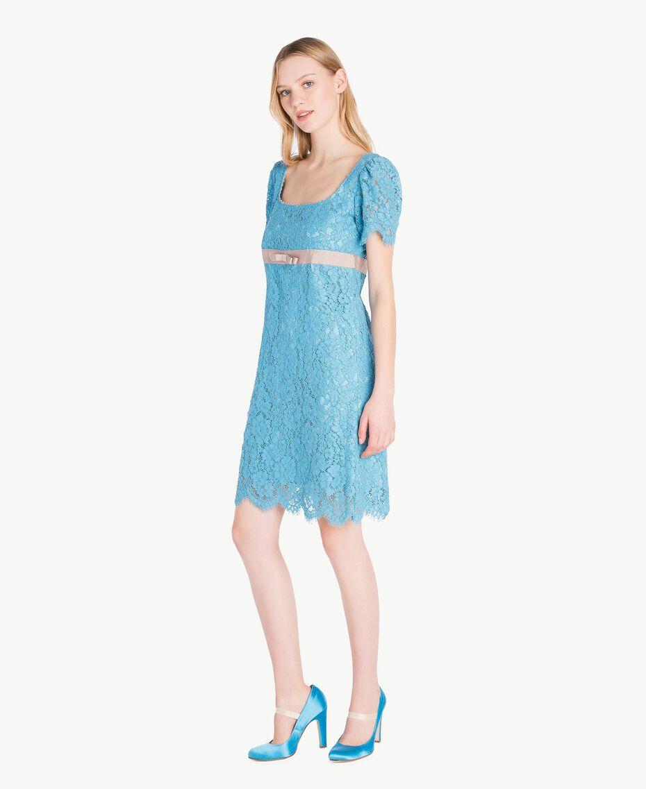 Lace dress Oriental Blue Woman PS82XA-02