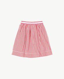 Gingham skirt Gingham / Pomegranate Red Jacquard Child GS82ZF-01