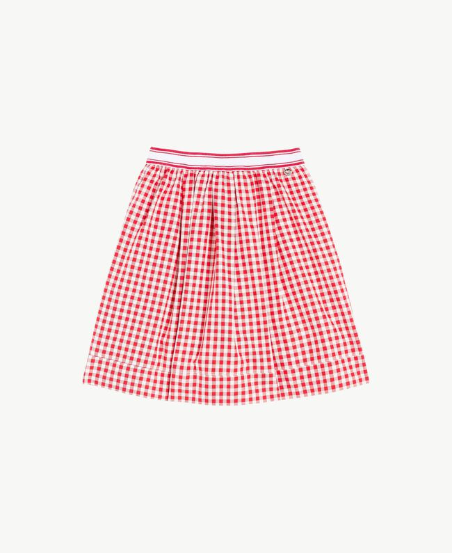 Gingham skirt Gingham / Pomegranate Red Jacquard Child GS82ZF-01