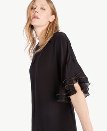 Silk tunic Black Woman TS827D-04