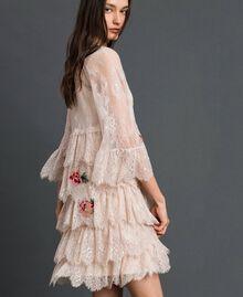 Robe en dentelle de Valenciennes avec broderies florales Noir Femme 192TP2586-03