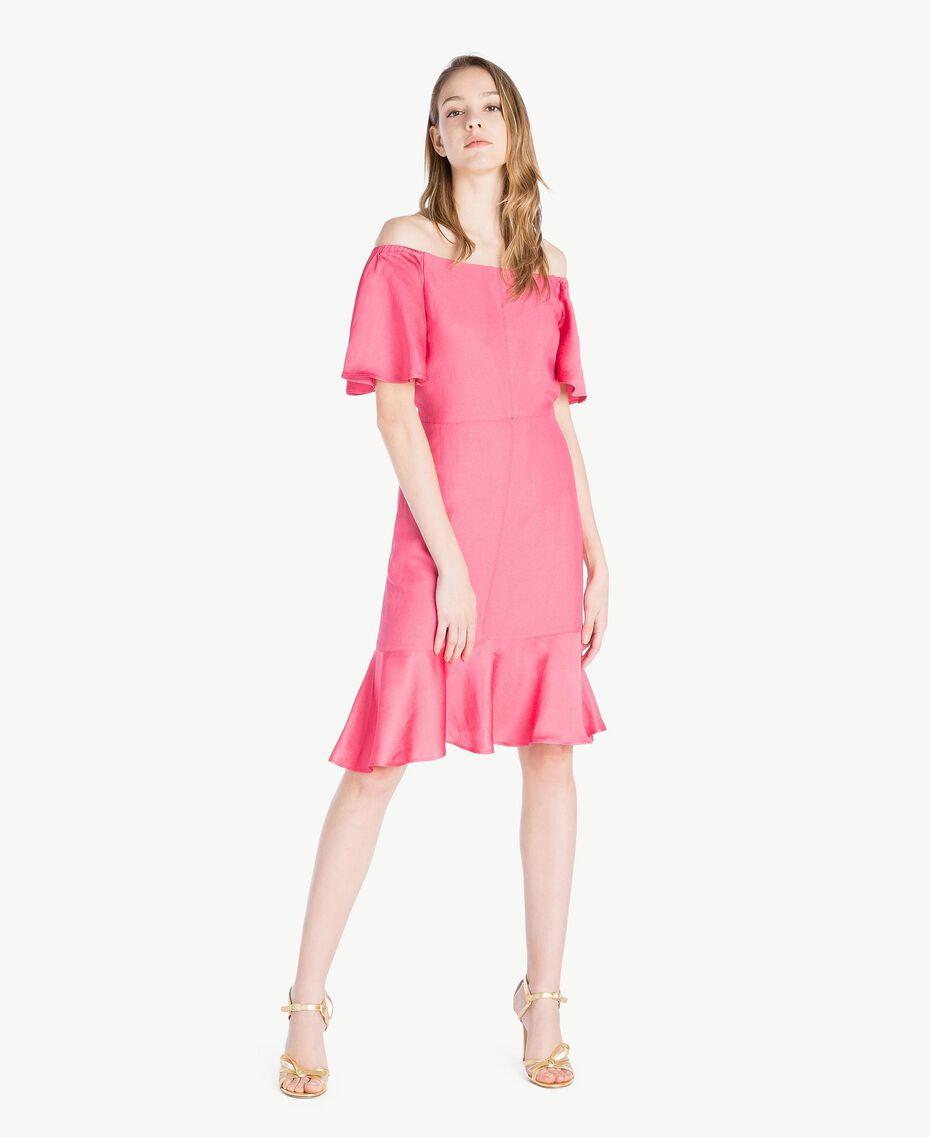 Robe envers satin Pink Provocateur Femme TS823K-01