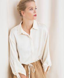"""Linen blend jumpsuit """"Dune"""" Beige Woman 201TP2253-04"""