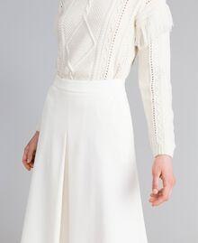 Jupe mi-longue en point de Milan Blanc Neige Femme PA8213-04
