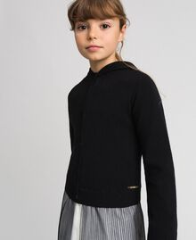 Cardigan with tulle inlay Black Child 192GJ3111-01
