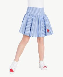 Poplin skirt Infinite Light Blue Jacquard Child GS82LQ-02