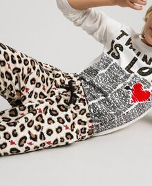 Animal print trousers with hearts Leopard Print Child 192GJ2330-05