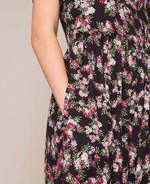 """Крепдешиновый комбинезон с цветочным рисунком Принт Цветочный Розовый """"Кварц"""" женщина 201MP2372-05"""