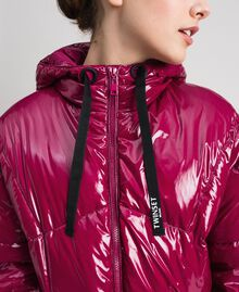 Short quilted puffer jacket with real down Beet Red Woman 192TP2500-04
