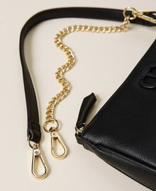 Shoulder bag with chain and logo Black Woman 212TB7050-03