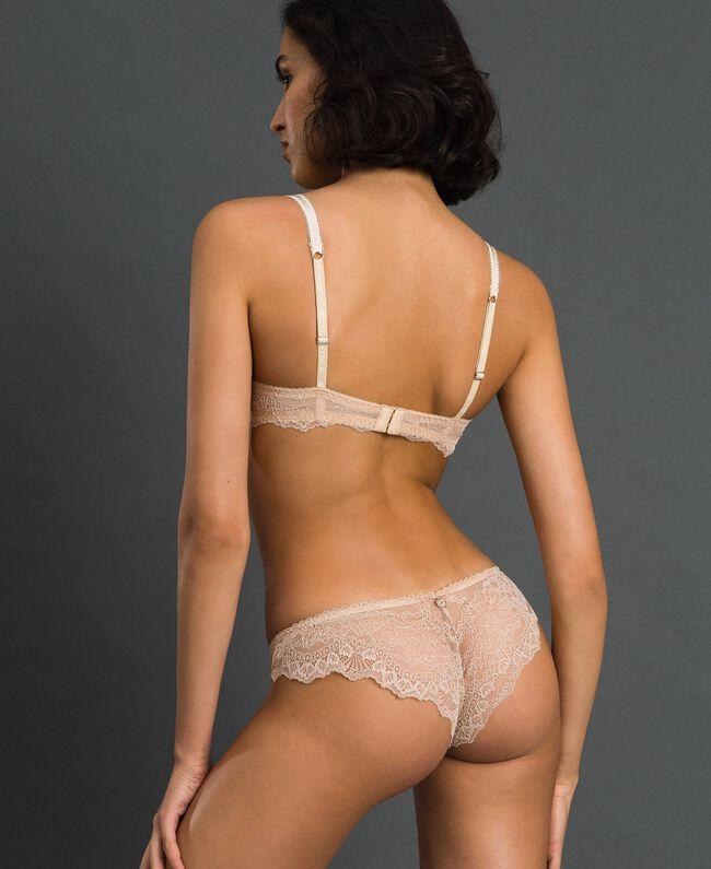 """Soutien-gorge push-up avec dentelle Beige """"Nude"""" Femme 192LL6C33-03"""
