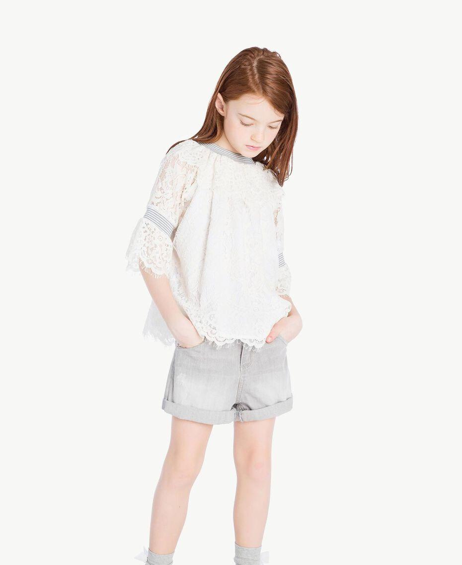 Lace blouse Pale Cream Child GS82UR-02