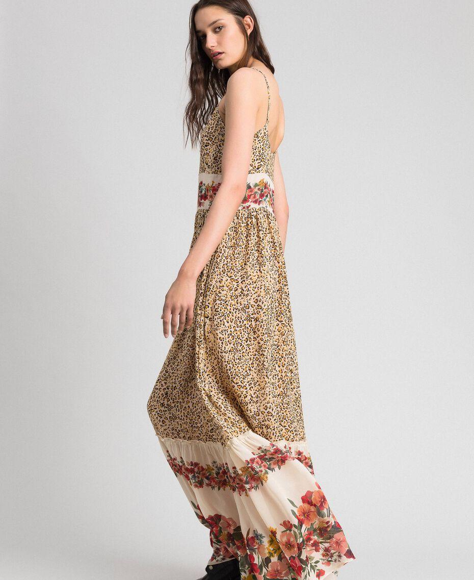 Robe longue avec imprimé animalier et floral Imprimé Léopard Femme 192TP2743-02