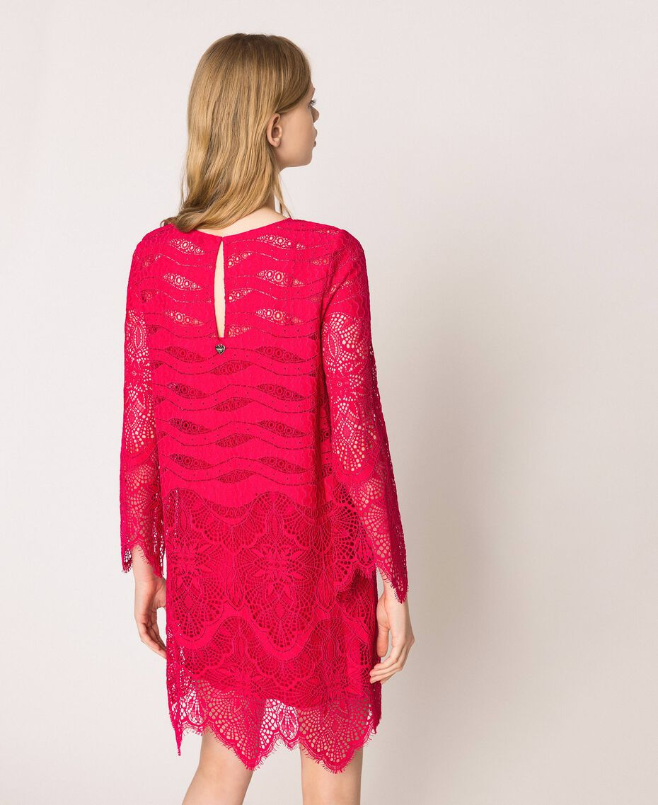 Macramé lace dress Black Cherry Woman 201TP2030-03