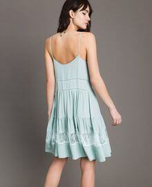 Silk blend and lace dress Acquamarine Woman 191TP2741-03