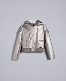 Faux leather laminated jacket Olive Child GA82BN-01