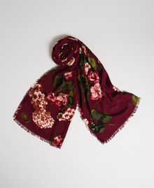 Dress with floral print and logo Beet Red Geranium Print Woman 192TA440G-01
