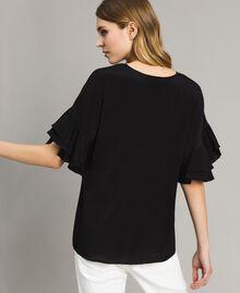 Блуза из смесового шелка Черный женщина 191TT2075-03
