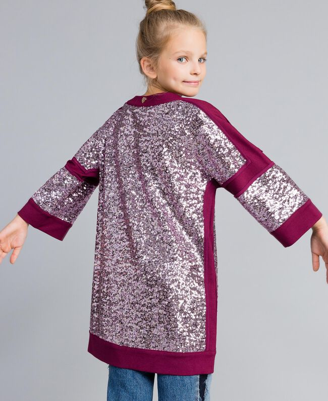 "Mini abito con full paillettes Viola ""Sweet Grape"" Bambina GA82PC-03"