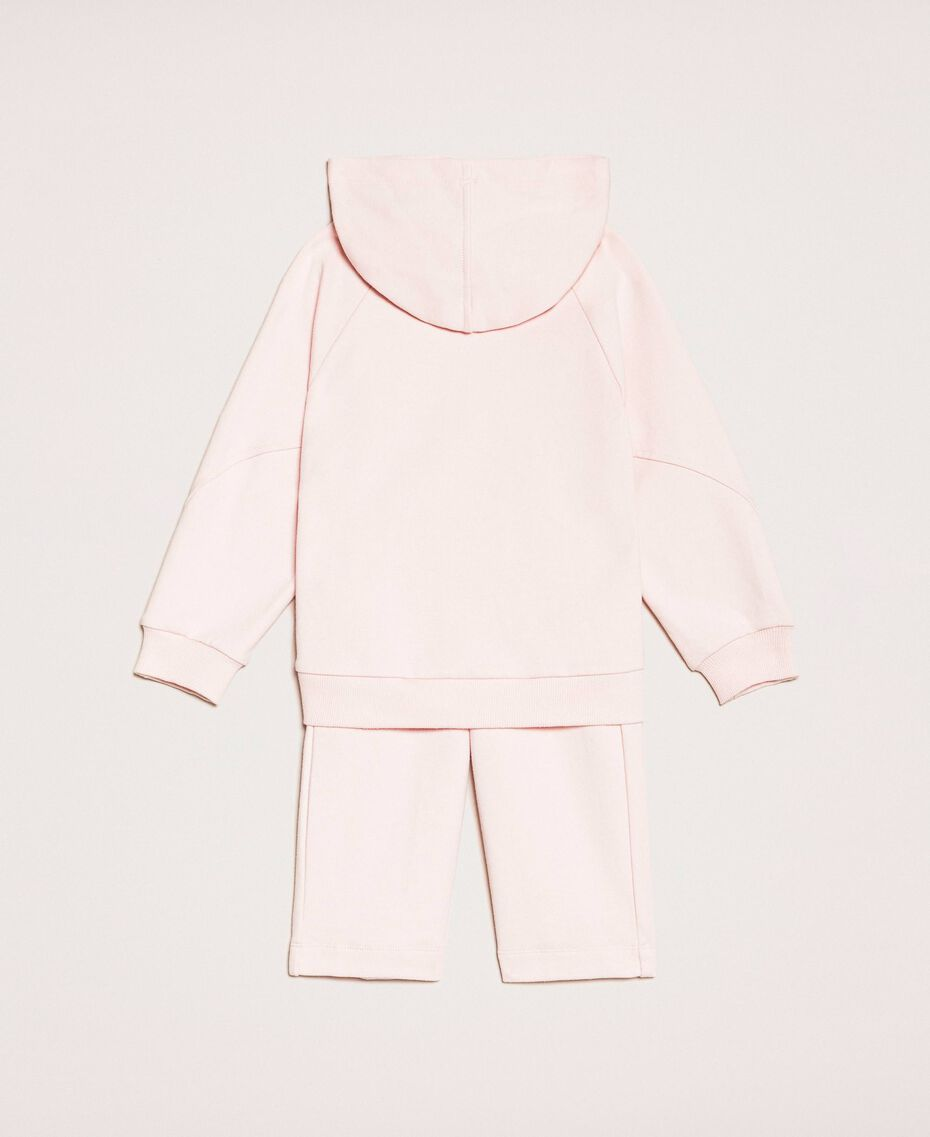 Logo sweatshirt and cropped trousers Fluo Twinset Print / Pale Pink Child 201GB2372-0S
