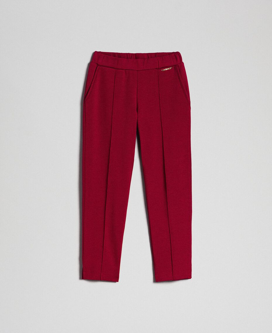 Slim fit trousers with elastic Ruby Wine Red Child 192GJ2250-0S