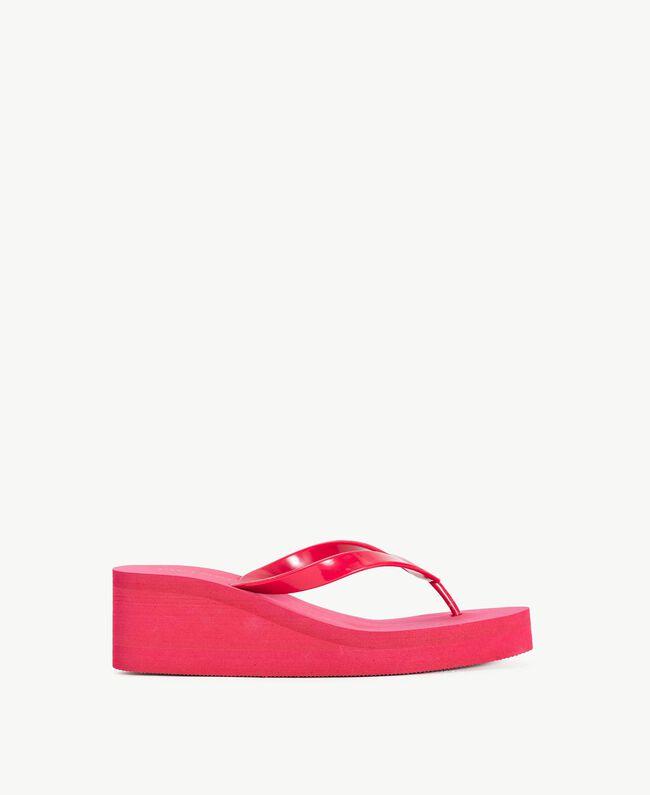 Platform flip flop shoes Pink Vegas Fuchsia Woman BS8ZAA-01