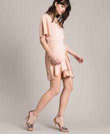 "Flounce and ruffle dress ""Nude"" Beige Woman 191TP2697-02"